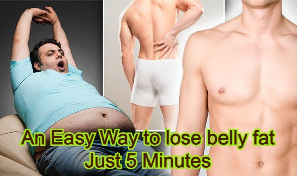 An Easy Way to lose belly fat | Just 5 Minutes