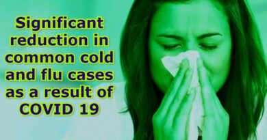 Significant reduction in common cold and flu cases as a result of COVID 19