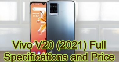 Vivo V20 (2021) Full Specifications and Price