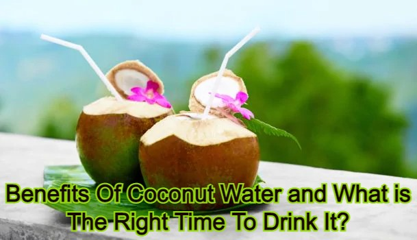 Benefits Of Coconut Water and What is The Right Time To Drink It?
