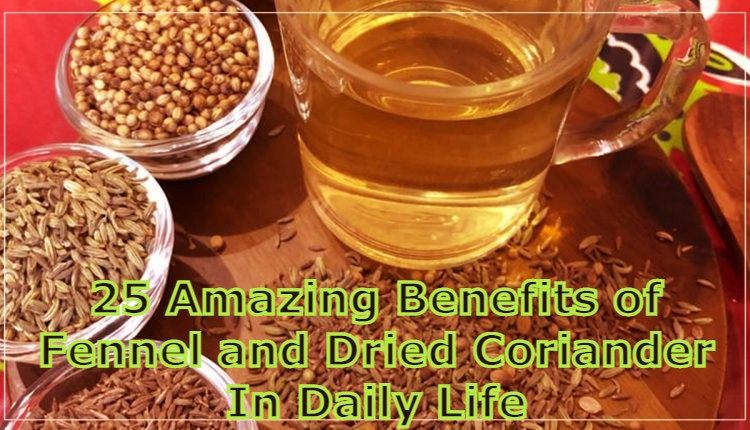 Benefits of Fennel and Dried Coriander