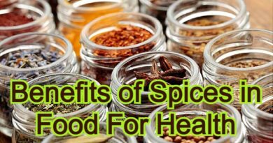 Benefits of Spices in Food For Health