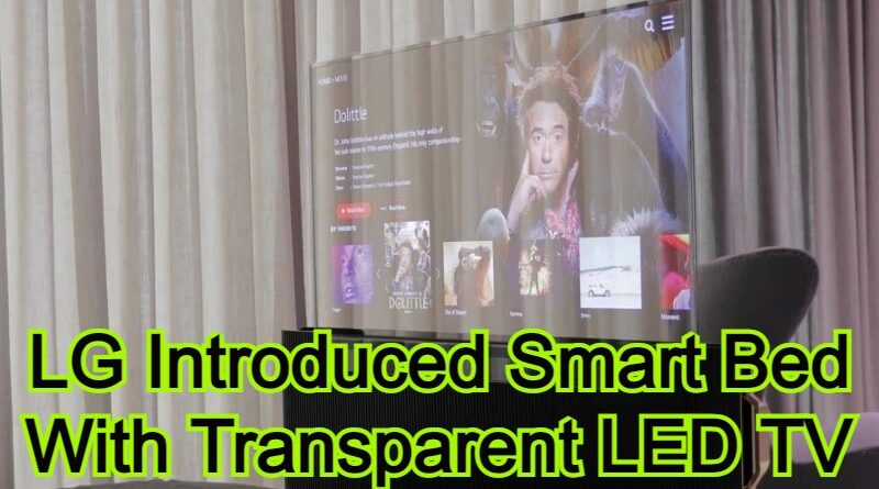 LG Introduced Smart Bed With Transparent LED TV