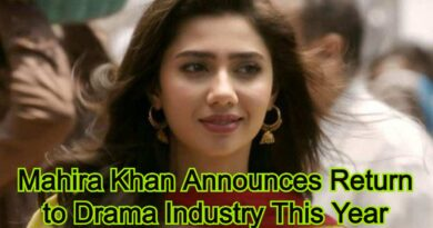 Mahira Khan Announces Return to Drama Industry This Year
