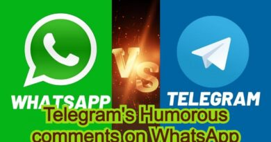 Telegram's Humorous comments on WhatsApp