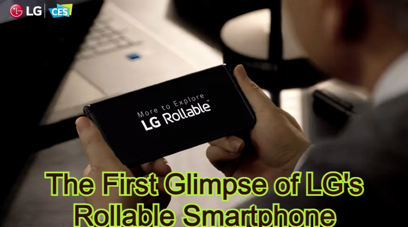 The First Glimpse of LG's Rollable Smartphone