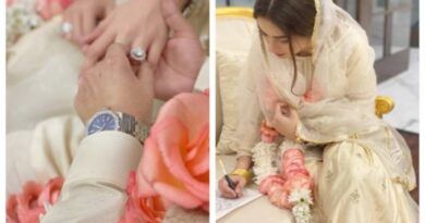 Actress Alyzeh Gabol got married