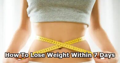 How To Lose Weight Within 7 Days