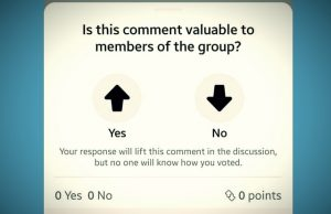 Facebook Introduced Up and Down Voting System In Group Comments